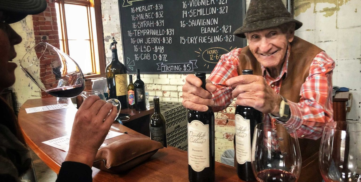 Jerry Gibson, a Master Storyteller and the Winemaker at Overbluff Cellars, Spokane Washington